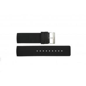 Bracelet de montre Obaku V118L Caoutchouc Noir 24mm