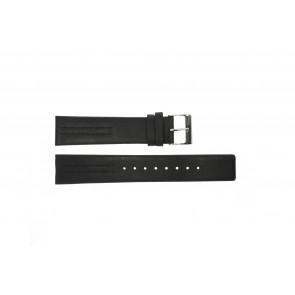 Bracelet de montre Obaku V122 Cuir Noir 20mm