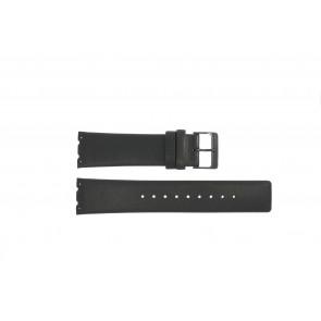 Bracelet de montre Obaku V137 Cuir Noir 23mm