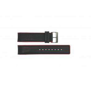 Bracelet de montre Obaku V141 Cuir Noir 22mm