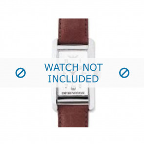 Bracelet de montre Armani AR0104 Cuir Cognac 18mm