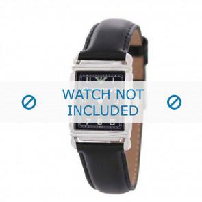 Bracelet de montre Armani AR0207 / AR0101 / AR0121 / AR5601 / AR0604 Cuir Noir 18mm