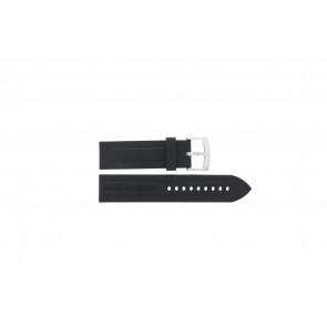 Bracelet de montre Armani AR0527 Vanille / AR5826 Silicone Noir 23mm