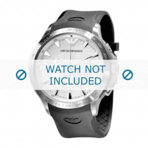 Bracelet de montre Armani AR0634 / AR0631 Silicone Noir 23mm