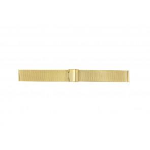 Bracelet de montre Universel 18.1.5-ST-DB Milanais Plaqué or 18mm