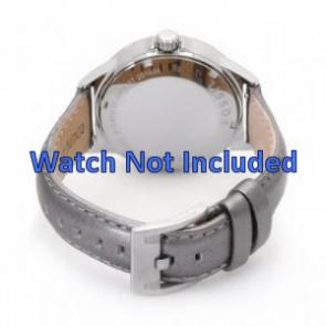 Fossil AM4337 Bracelet de montre en cuir argent