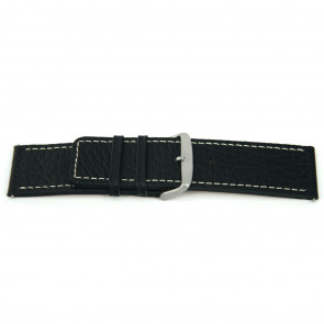 Bracelet de montre en cuir noir 30mm H79