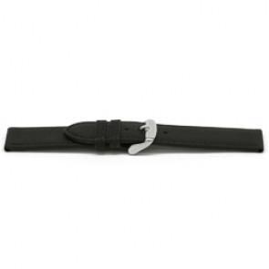 Bracelet de montre cuir noir 16mm EX-E129