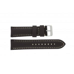 Bracelet de montre Universel H038 XL Cuir Brun foncé 22mm