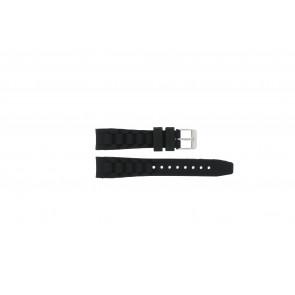 Garonne bracelet de montre KQ13Q419 Plastique Noir 15mm