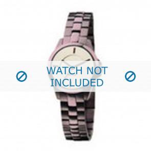 Mexx bracelet de montre  Métal Pourpre 14mm