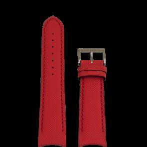 Nautica bracelet de montre A24515G / N16532 Cuir Rouge 22mm