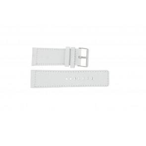 Bracelet de montre Universel OOZOO-WIT-28MM Cuir Blanc 28mm