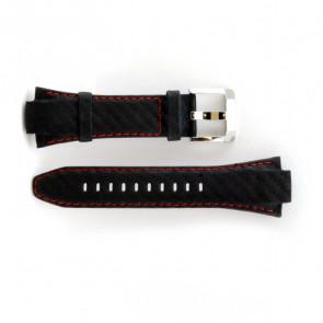Seiko Bracelet de montre cuir avec coutures rouges 7T62-0ED0 SNA633P1
