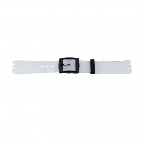 Bracelet de montre Swatch (alt.) 51.00 Plastique Transparant 17mm