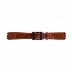 Bracelet de montre Swatch (alt.) SC16.03 Cuir Brun 16mm