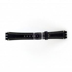 Bracelet de montre Swatch (alt.) ES.IRON-3.05 Cuir Bleu 19mm