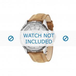 Timberland bracelet de montre 14098JSTU-04 Cuir Brun 26mm + coutures de beige