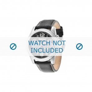 Timberland bracelet de montre 14518JS-02A Cuir Noir 24mm + coutures blanches
